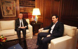 Στο πλαίσιο της προσπάθειας να ενημερωθεί για τις προθέσεις της νέας ελληνικής κυβέρνησης στο γεωπολιτικό πεδίο, ο πρέσβης των ΗΠΑ στην Αθήνα, Ντέιβιντ Πιρς, συναντήθηκε την Παρασκευή με τον πρωθυπουργό, Αλέξη Τσίπρα, στο Μέγαρο Μαξίμου.