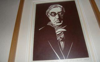 Πορτρέτο Κ. Π. Καβάφη στην οικία - μουσείο του ποιητή, στην Αλεξάνδρεια.