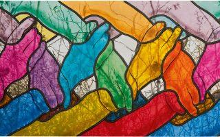 Ο Πασιέκα ξέρει να χειρίζεται το χρώμα αλλά και τη σινική μελάνη. Επάνω, το έργο «Χρονισμός», λάδι σε καμβά, του 2014.