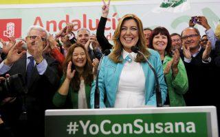 Στις εκλογές της Ανδαλουσίας το Σοσιαλιστικό Κόμμα, με επικεφαλής τη Σουζάνα Ντίας, ήρθε πρώτο, αν και αποδυναμωμένο.