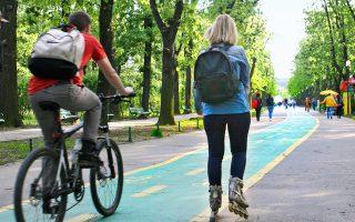 Αθληση και αναψυχή στο πάρκο Ερεστρέου. (Φωτογραφία: ΧΑΡΗΣ ΧΛΟΥΒΕΡΑΚΗΣ-ΠΑΠΑΣ)