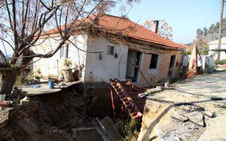 Μεγάλες καταστροφές στην Ανάληψη από το ρήγμα που έχει δημιουργηθεί.