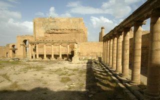 Η εσωτερική αυλή του ανακτόρου της Χάτρα, στο Βόρειο Ιράκ σε φωτογραφία αρχείου, η οποία τραβήχτηκε τον Απρίλιο του 2003.