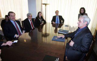 Ο Ντέιβιντ Χάρις, επικεφαλής της Αμερικανοεβραϊκής Επιτροπής, συναντήθηκε με τον πρωθυπουργό και υπουργούς.