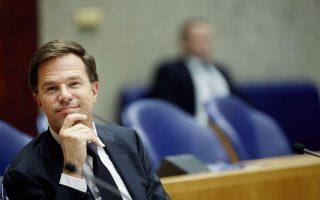 Ο Ολλανδός πρωθυπουργός Μαρκ Ρούτε.