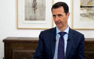 epa04681480 A handout picture made available 27 March 2015 by the Syrian Arab News Agency (SANA) shows Syrian President, Bashar al-Assad, during an interview with Russian media, Damascus, Syria, 25 March 2015. During the interview al-Assad claimed that he had so far had no talks with the US regarding a solution to the ongoing civil war in Syria but hailed talks in Russia scheduled for 06-09 April as a positive step, despite suggestions he would not be attending, further adding that the crisis affecting Syria, as in the Ukraine, was a political plot to weaken his long term supporter, Russia.  EPA/SYRIAN ARAB NEWS AGENCY / HANDOUT  HANDOUT EDITORIAL USE ONLY/NO SALES
