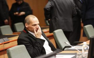 epa04629234 Greek Finance Minister Yanis Varoufakis at the start of a special Eurogroup meeting of Finance Ministers on the situation in Greece, at the European Council headquarters, in Brussels, Belgium, 20 February 2015. The European Financial Stability Facility financial assistance to Greece expires at the end of February 2015. Greek's Finance minister had said ahead of the talks in Brussels that he hopes for an agreement over the country's bailout extension.  EPA/OLIVIER HOSLET