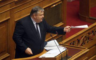 Ο πρόεδρος του ΠΑΣΟΚ αποδίδει την ευθύνη για την αφαίρεση των 11 δισ. ευρώ από το ΤΧΣ στην κυβέρνηση.