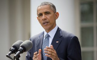 """FILE - In this April 2, 2015, file photo, President Barack Obama speaks at the Rose Garden of the White House in Washington, about the breakthrough in the Iranian nuclear talks. Obama staunchly defended a framework nuclear agreement with Iran as a """"once-in-a-lifetime opportunity"""" to prevent a bomb and bring longer-term stability to the Middle East. """"It's been a hard period,"""" Obama said in a weekend interview with Thomas Friedman, a columnist for The New York Times published Sunday, April 5. (AP Photo/Pablo Martinez Monsivais, File)"""
