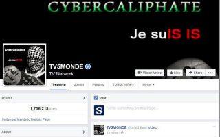 Η σελίδα του TV5 Monde στο Facebook μετά την επίθεση.
