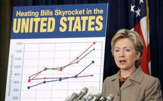 Η Χίλαρι Κλίντον παρατήρησε ως «μείζονα τα θέματα της ανισότητας και της ανυπαρξίας κοινωνικής κινητικότητας», σε εκδήλωση της προηγούμενης εβδομάδας στην Ουάσιγκτον.