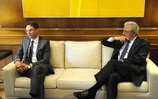 «Είμαι σίγουρος ότι μπορούμε να συνεργαστούμε πολύ στενά και να βοηθήσουμε τον ελληνικό λαό να βρει νέες δουλειές», δήλωσε ο κ. Κατάινεν, μετά τη συνάντηση με τον πρωθυπουργό και τον Δ. Αβραμόπουλο.