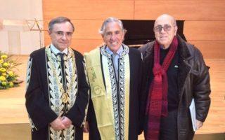 Από αριστερά: ο πρύτανης Παν. Ιωαννίνων, ο Αδωνις Κύρου, ο Μανόλης Τσακίρης.
