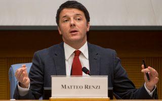 Ο πρωθυπουργός της Ιταλίας, Ματέο Ρέντσι.