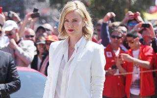 Charlize Theron attends the Formula 1 Grand Prix in Melbourne<P><noscript><img width=