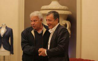 Ο επικεφαλής του «Ποταμιού» Σταύρος Θεοδωράκης μετά τη χθεσινή συνάντηση με τον πρώην πρωθυπουργό Γκονζάλες.