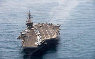 Το αεροπλανοφόρο «Θίοντορ Ρούσβετλ» και ο στολίσκος του θα συνοδεύσουν αμερικανικά πλοία.