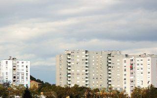 Αποψη υποβαθμισμένων προαστίων της Λυών. Οχι πολύ μακριά από εδώ, τον Δεκέμβριο του 2009 δολοφονήθηκε «για μια μπίρα» ο νεαρός Μικαέλ Μπλεζ.