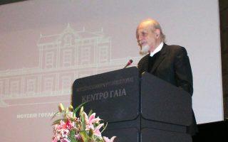 Ο ομότ. καθηγητής του ΕΜΠ Θεοδόσης Π. Τάσιος σφραγίζει με την ομιλία του «Μετεωρολογικά» και «Μικρά Φυσικά» του Αριστοτέλη, την Τετάρτη 13 Μαΐου, ώρα 19.00, τη σειρά ομιλιών - μαθημάτων για τον Αριστοτέλη. Εδώ, στο βήμα του Κέντρου Γαία σε προηγούμενη ομιλία του στο ΜΓΦΙ.