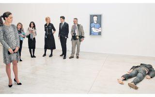 Το γλυπτό του Jeremy Millar με τίτλο «Self Portrait as a Drowned Man» απεικονίζει τον ίδιο πνιγμένο και φρικτά παραμορφωμένο, ενώ εκτίθεται στο... πάτωμα, μπρούμυτα, στο πλαίσιο της πολυσυζητημένης έκθεσης «Self: Image and Identity».