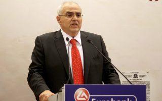 Ο πρόεδρος του ομίλου Eurobank κ. Νικόλαος Καραμούζης.