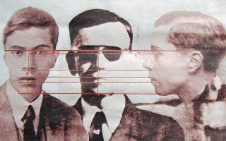 Τρεις εκδοχές του Ετορε. Στις δύο ακριανές φωτογραφίες, όπως ήταν το 1938. Στη μεσαία, όπως ήταν το 1955. Χρονοταξιδιώτης;