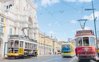 Κεντρικός δρόμος στη Λισαβόνα.