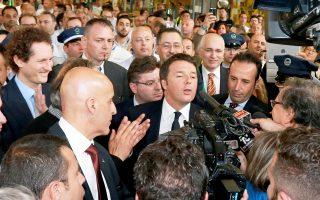 Ο Ματέο Ρέντσι έχει εκφράσει πλήρη στήριξη στην υποψηφιότητα Ντε Λούκα.