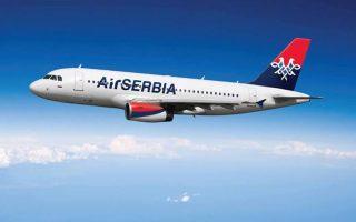 Η Air Serbia απασχολεί σήμερα 2.300 εργαζομένους για ένα σύγχρονο στόλο 16 αεροσκαφών (8 Airbus A319, 2 Airbus A320, 3 ATR 72-200 και 3 ATR 72-500). Εχει επίσης μία εταιρεία τσάρτερ, την Aviolet, με τρία αεροσκάφη Boeing B737-300.