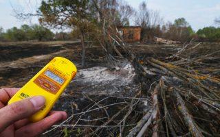 Μέτρηση για τα επίπεδα ραδιενέργειας στο Τσερνομπίλ ύστερα από φωτιά στις αρχές Μαΐου.