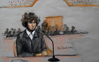 Σκίτσο από την σημερινή εμφάνιση του Τσαρνάεφ στο δικαστήριο της Βοστόνης, πρώτη μετά από 17 μήνες