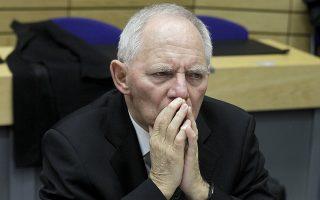 "œ θποθώψϋρ œιξομολιξΰμ τγρ ΟεώλαμΏαρ ¬οκωξαμψξ ""ϋιλπκε  πώιμ τγμ ίμαώνγ τοθ Eurogroup στιρ ¬ώθνίκκερ, ¬ίκψιο, 'ετήώτγ 11 ÷εβώοθαώΏοθ 2015. ANA-MPA/ANA-MPA/ORESTIS PANAGIOTOU"