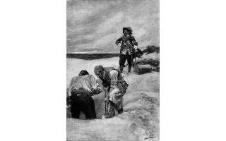 Ο κάπτεν Κιντ και το πλήρωμά του θάβουν έναν από τους πολλούς θησαυρούς τους, στο νησί Γκάρντινερ, ανοιχτά της Νέας Υόρκης.