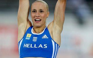 Πανελλήνιο ρεκόρ με 4,73 πέτυχε η Νικόλ Κυριακοπούλου.