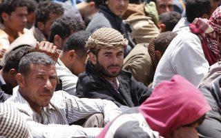 Αιγύπτιοι μετανάστες στη Μισράτα της Λιβύης.