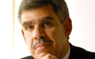 «Η Ευρώπη αντιστέκεται όλο και λιγότερο στο ενδεχόμενο εξόδου της Ελλάδας από το ευρώ» τονίζει στην «Κ» ο Μοχάμεντ Ελ Εριάν.