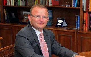 O Βρετανός πρέσβης στην Αθήνα, κ. Τζον Κίτμερ.