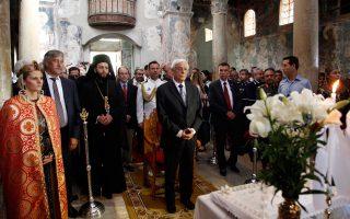 Ο κ. Παυλόπουλος παρέστη στη Θεία Λειτουργία, προεξάρχοντος του Σεβασμιωτάτου Μητροπολίτου Ευσταθίου στην Σπάρτη.