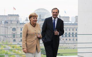 Στην πρώτη επίσημη επίσκεψή του στο Βερολίνο τον Αύγουστο του 2012, ο Αντώνης Σαμαράς επιχείρησε να πείσει ότι θα προωθηθεί τάχιστα η εφαρμογή των συμφωνηθέντων και ζήτησε στήριξη για να μπει τέλος στη συζήτηση περί ελληνικής εξόδου.