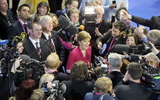 Η ηγέτις του SNP, Νίκολα Στάρτζεον, έκανε την Πέμπτη λόγο για ένα δεύτερο δημοψήφισμα στο θέμα της απόσχισης της Σκωτίας.