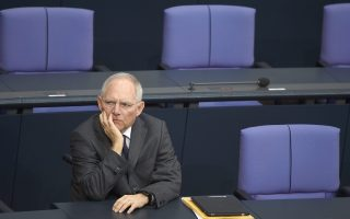 Ο υπουργός Οικονομικών της Γερμανίας Β. Σόιμπλε.