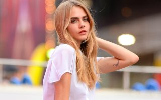 Cara Delevingne and ASAP Rocky photoshoot for DKNY