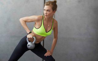Karlie Kloss models new Nike sports bra