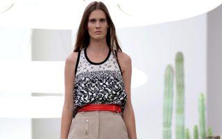 Iceberg show, Milan Fashion Week Womenswear Spring Summer 2015, Italy, models walking on runway.<P><noscript><img width=