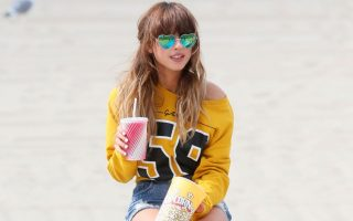 Foxes, AKA Louisa Rose Allen seen filming a video and doing photoshoot in Venice Beach, CA. <P><noscript><img width=