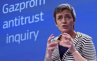 H Ευρωπαία Επίτροπος Ανταγωνισμού, Μαργκρέτ Βεστάγκερ.