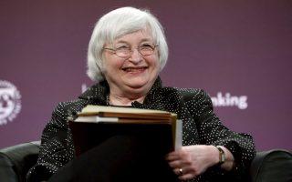 «Οι αποτιμήσεις των μετοχών είναι υπερτιμημένες», υποστήριξε η επικεφαλής της Fed Τζ. Γέλεν (φωτ.) προκαλώντας ανησυχία στις αγορές. Η ανησυχία αυτή πάντως δεν μεταφράστηκε σε πωλήσεις.