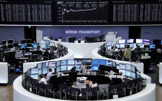 Εν μέσω της ευφορίας που καλλιέργησε η ανάπτυξη του γερμανικού μεταποιητικού κλάδου, ο δείκτης DAX της Φρανκφούρτης (φωτ.) σημείωσε τη μεγαλύτερη άνοδο, κλείνοντας με κέρδη 1,44%.