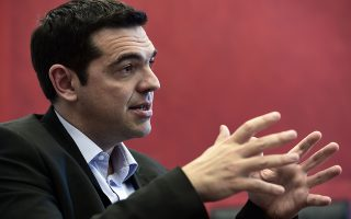 Greece's Syriza main opposition party leader Alexis Tsipras speaks during an interview with AFP journalists at his office in the parliament in Athens on March 31, 2014. Europe needs a
