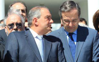 Οι κ. Αντώνης Σαμαράς και Κώστας Καραμανλής συναντήθηκαν χθες στην οικία του προέδρου της Νέας Δημοκρατίας, στην Κηφισιά, για παραπάνω από μία ώρα.